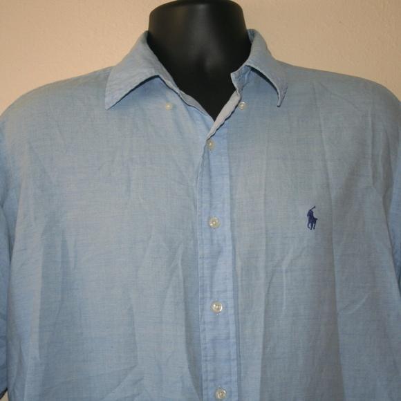 Ralph Lauren Other - Ralph Lauren Baby Blue Button Down Shirt Blake M/L